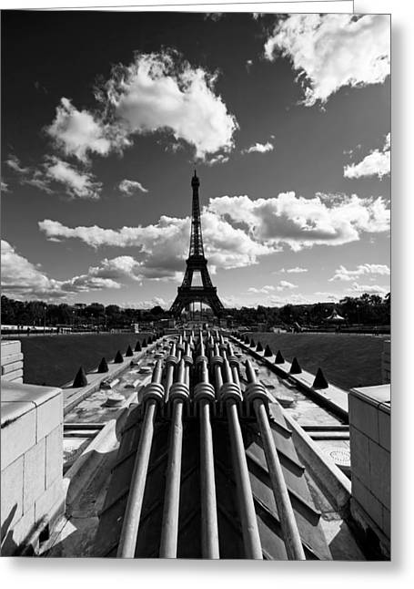 Black And White Paris Greeting Card by Mircea Costina Photography