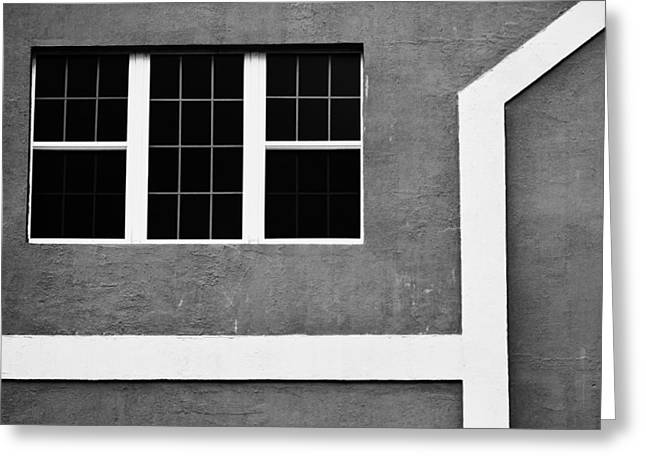 Black And White Side Of Building  Greeting Card by Anya Brewley schultheiss
