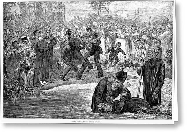 Black Baptism, 1887 Greeting Card by Granger