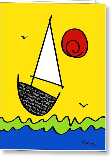 Black Bottom Boat Greeting Card