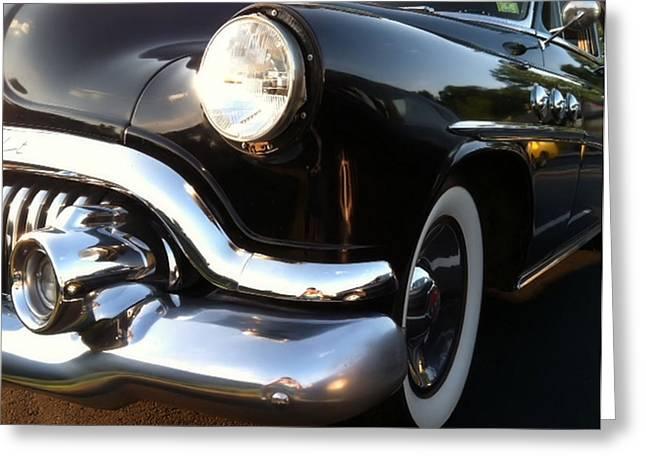 Black Buick 1952 Greeting Card by Elizabeth Coats