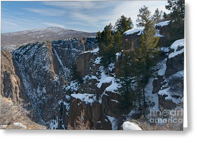 Black Canyon Of The Gunnison Greeting Card by David Waldrop