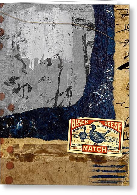 Black Geese Greeting Card