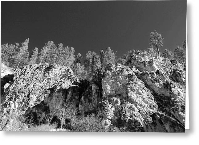 Black Hills In Black And White Greeting Card by Twenty Two North Photography