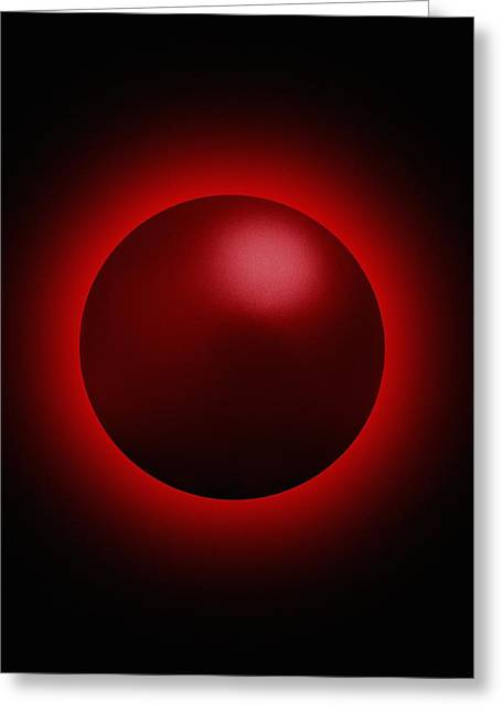 Black Hole Radiation, Artwork Greeting Card