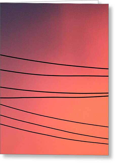 Black Lines And Night Skies  Greeting Card