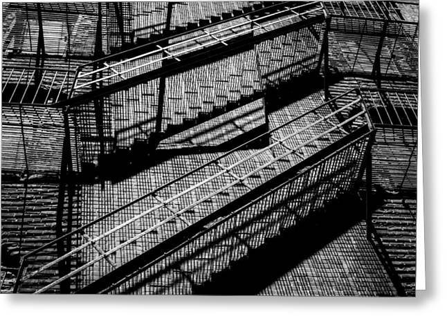 Fire Escape With Shadow Detail Greeting Card