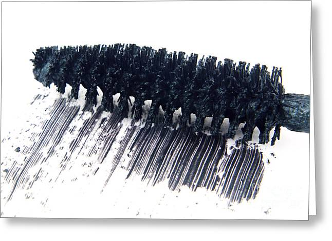 Black Mascara Greeting Card by Blink Images
