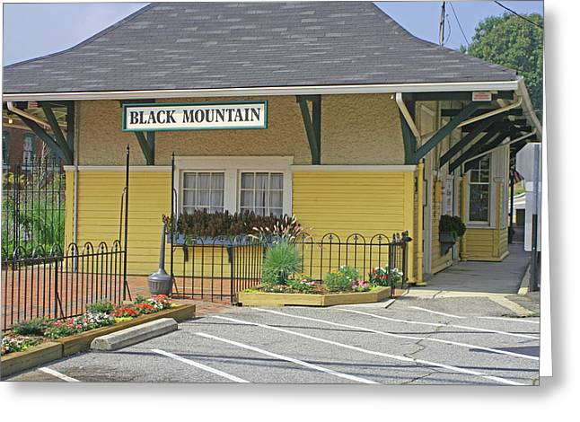 Greeting Card featuring the photograph Black Mountain Train Depot by Lou Belcher