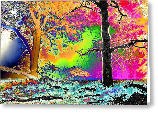 Black Oaks Yosemite Abstract Greeting Card