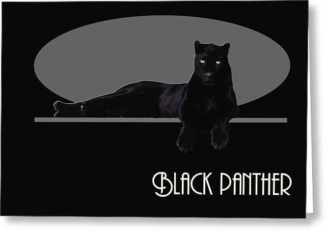 Black Panther  Greeting Card by Quim Abella