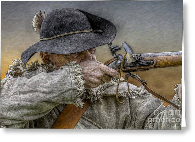 Black Powder Rifle Greeting Card by Randy Steele