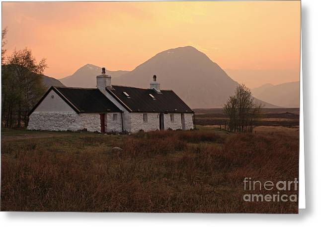 Black Rock Cottage Sunset Greeting Card