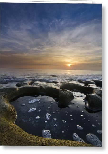 Black Sea Greeting Card by Debra and Dave Vanderlaan