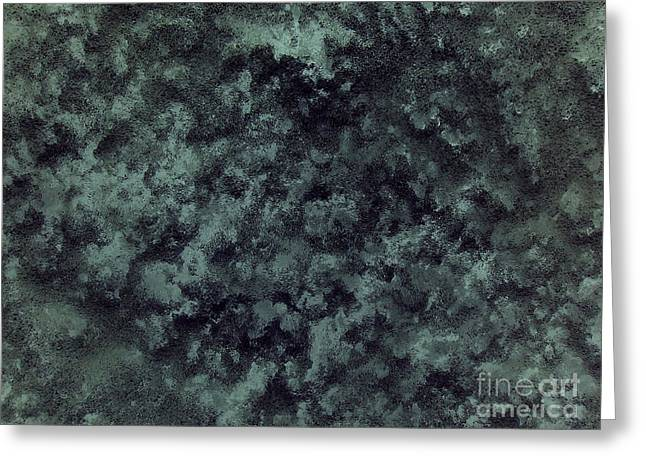 Black Snow Greeting Card by Silvie Kendall