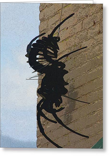 Black Widow Spider Art Greeting Card by Karon Melillo DeVega