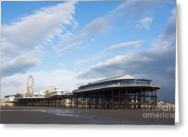 Blackpool Pier Greeting Card by Andrew  Michael