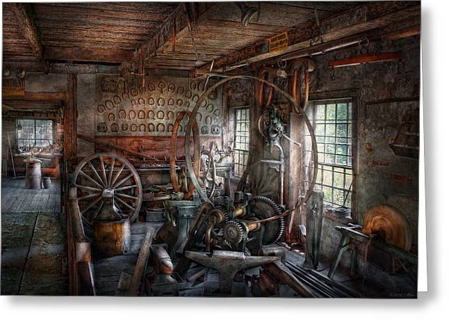 Blacksmith - That's A Lot Of Hoopla Greeting Card by Mike Savad