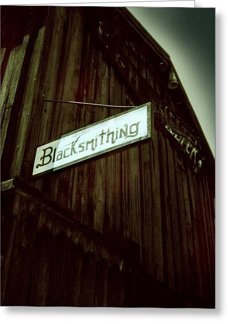 Blacksmithing Greeting Card