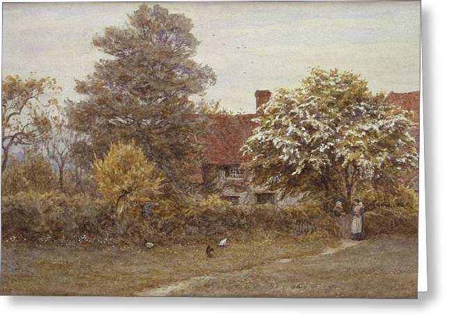 Blake's House Hampstead Heath Greeting Card by Helen Allingham
