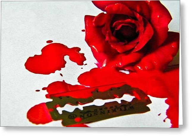 Bleed Greeting Card by Prashant Ambastha