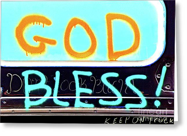 Bless You Greeting Card by Joe Jake Pratt
