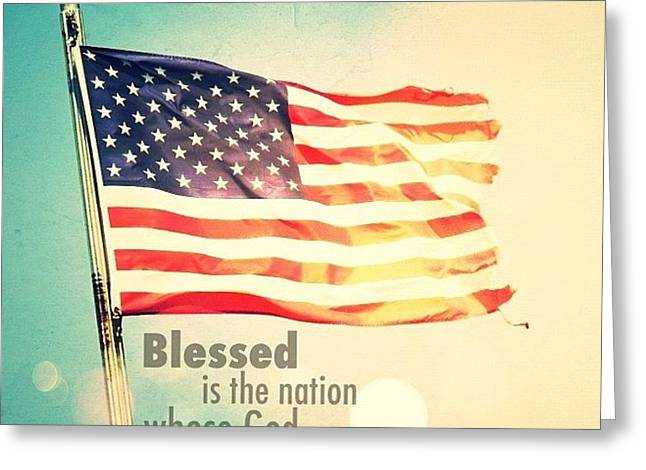 blessed Is The Nation Whose God Is Greeting Card