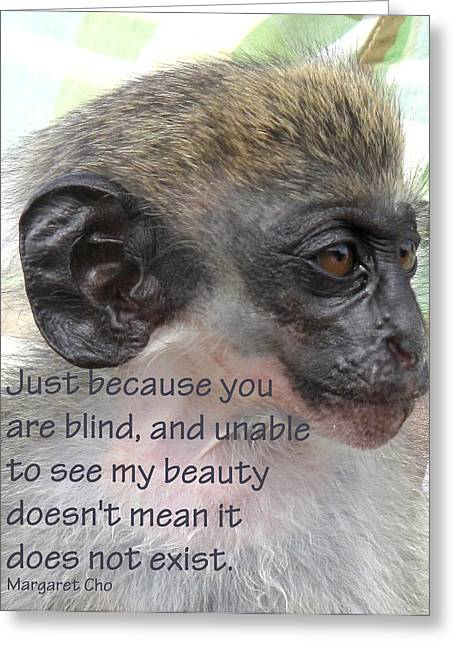 Blind Beauty Greeting Card by Ian  MacDonald