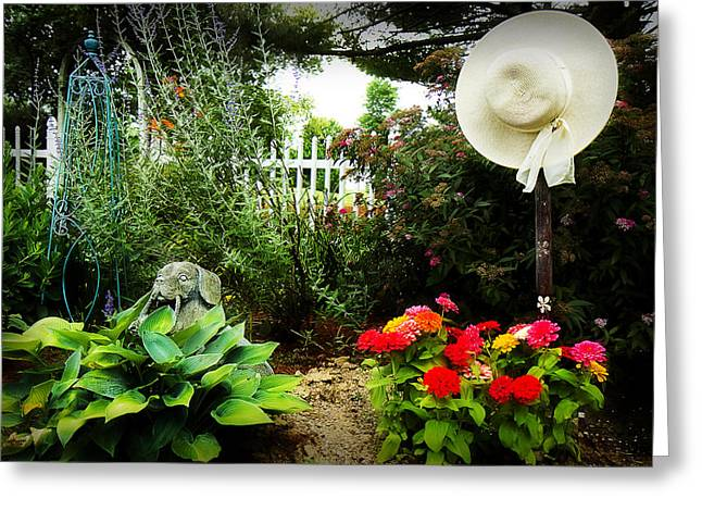 Blissful Garden Greeting Card by Trudy Wilkerson