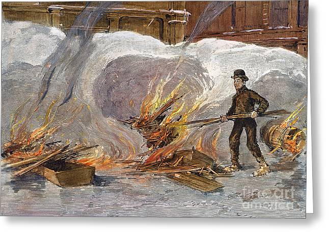 Blizzard Of 1888, Nyc Greeting Card by Granger