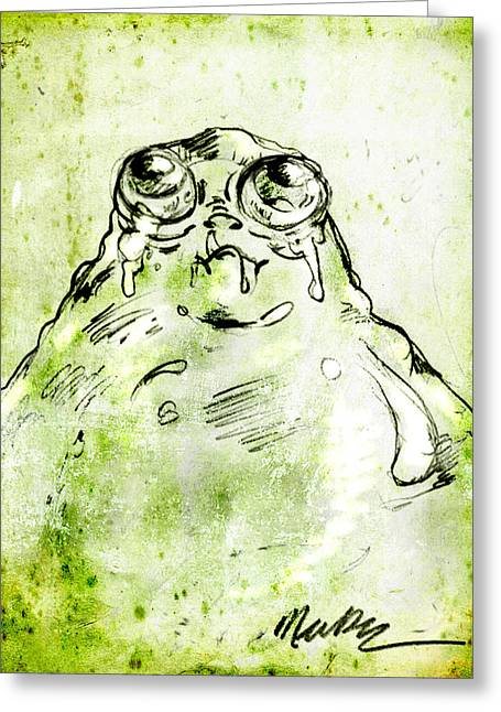 Blob Monster Greeting Card