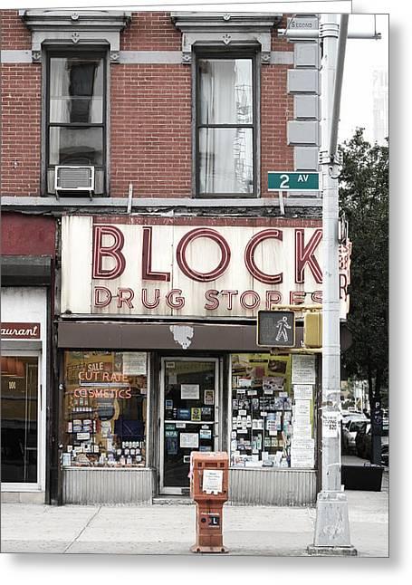 Block Drug Store Greeting Card