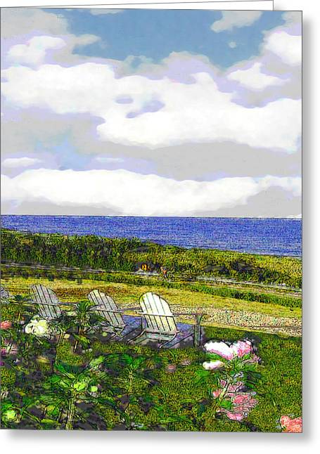 Block Island Sea Chairs Greeting Card