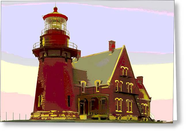 Block Island Southeast Lighthouse Greeting Card