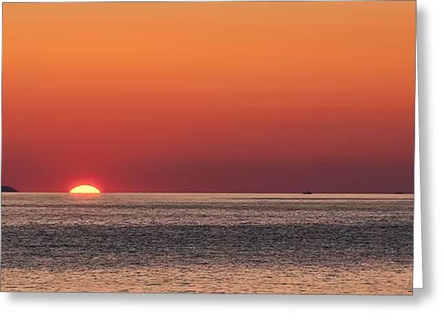 Block Island Sunrise Greeting Card by William Jobes