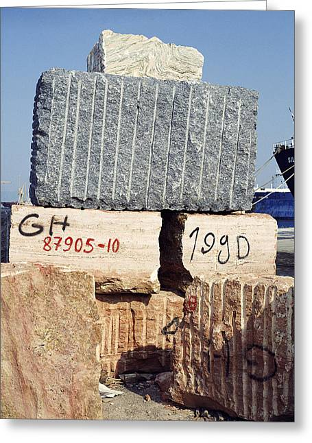 Blocks Of Dimension Stone Greeting Card