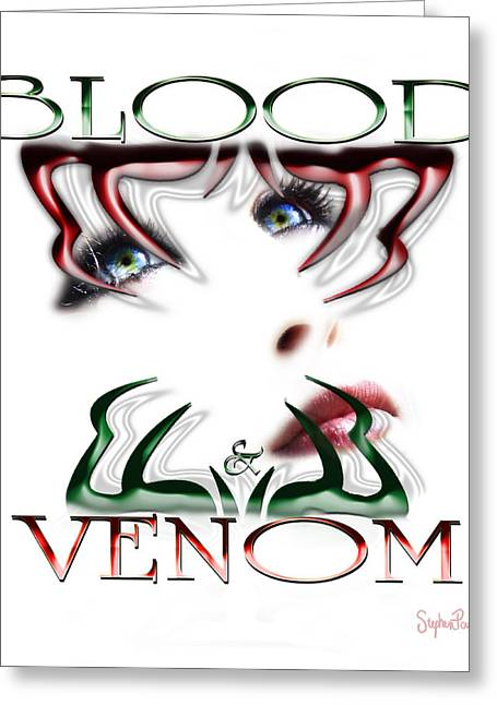 Blood And Venom Tattoo Greeting Card by Stephen Paul West