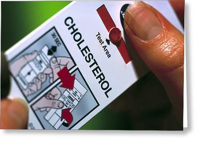 Blood Cholesterol Testing Greeting Card