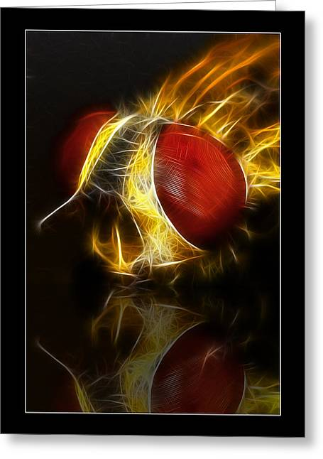 Greeting Card featuring the digital art Blood Shot 02 by Kevin Chippindall