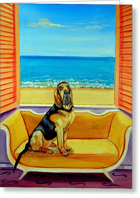 Bloodhound Dreams Greeting Card
