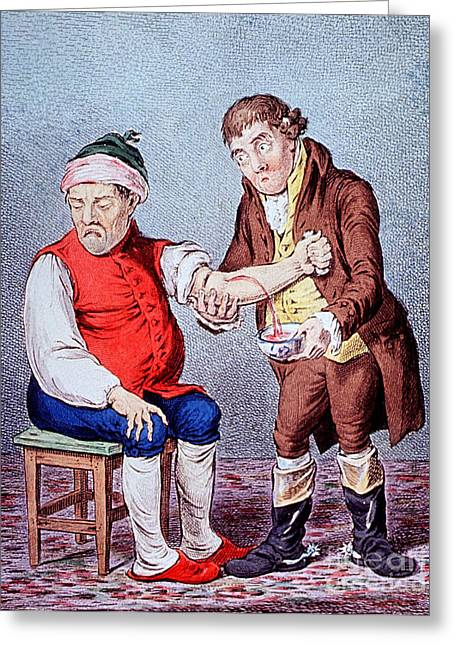 Bloodletting-1804 Greeting Card by Science Source