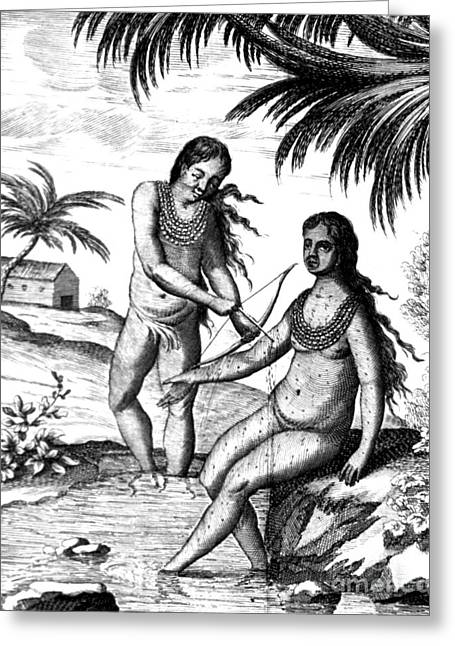 Bloodletting, Native Central American Greeting Card