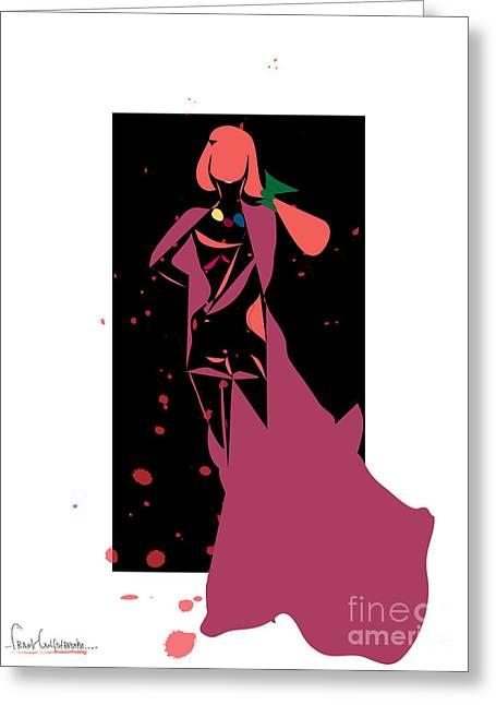 Bloody Fashion 888- Artwork Greeting Card