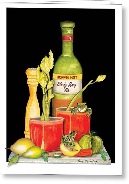 Greeting Card featuring the painting Bloody Mary by Anne Beverley-Stamps