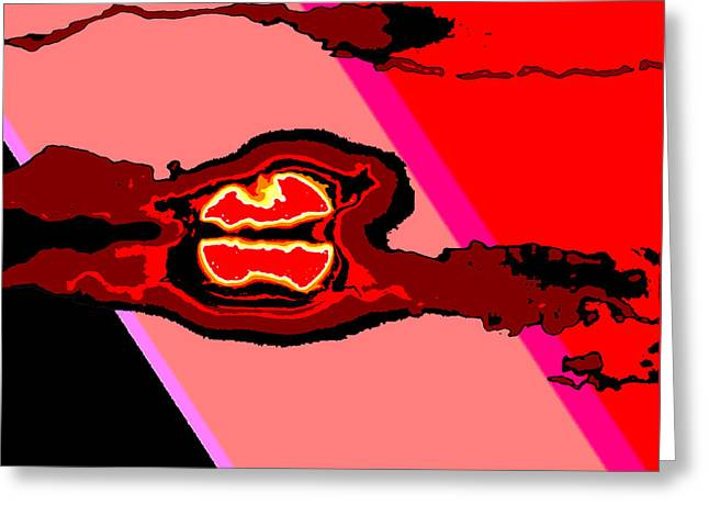 Bloody Red Sun Of Fantastic L.a. Greeting Card by Jimi Bush