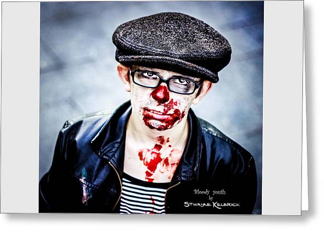 Greeting Card featuring the photograph Bloody Youth by Stwayne Keubrick