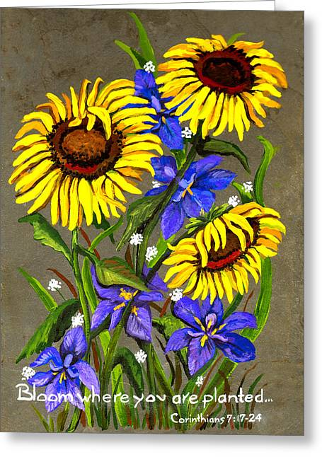 Bloom Greeting Card by Elaine Hodges