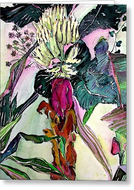 Blooming Bananas  Greeting Card by Mindy Newman