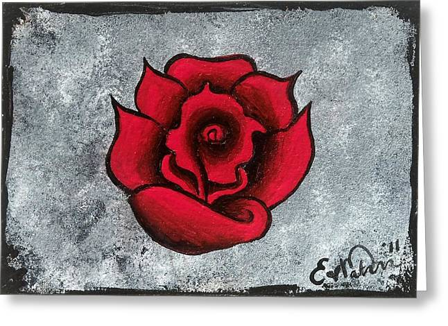 Greeting Card featuring the painting Blooming Beauty by Oddball Art Co by Lizzy Love