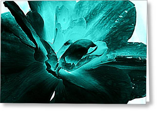 Blooming Blue Greeting Card